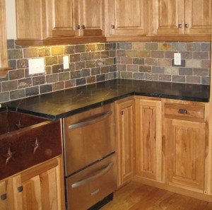 Slate Subway Tiles With Soapstone